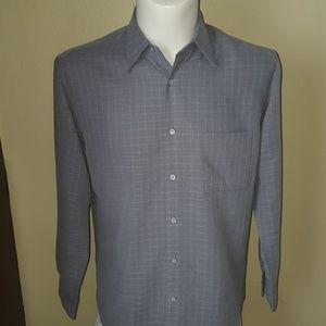 NWT Alfani Italian made gray dress shirt size S